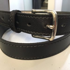 Plain Belt 30mm - Black/Nickel