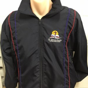 St. Brendan's Zip Jacket - Navy/Red/Purple