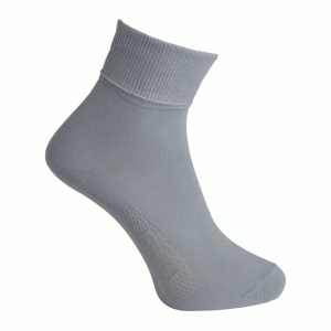 Spartan - Cotton Rich Turnover Sock - Grey Twin Pack